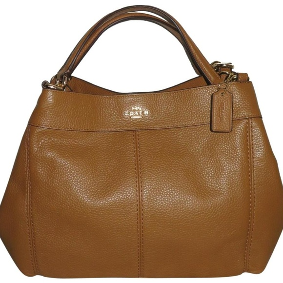 7681ff1b8a Coach Small Lexy F28992 Light Saddle Leather Bag
